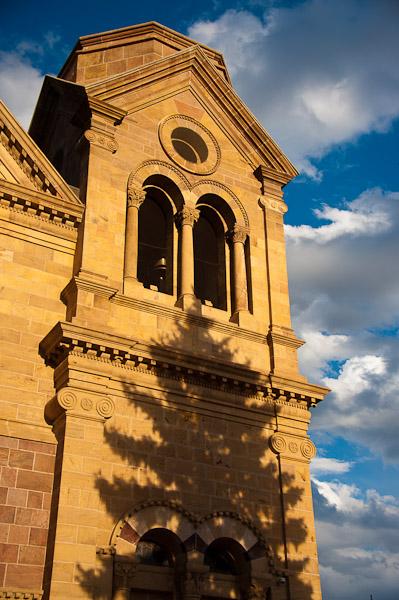 Santa Fe Cathedral at Sunset